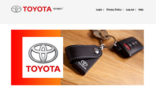 Toyota Key Finder Rebate Offer