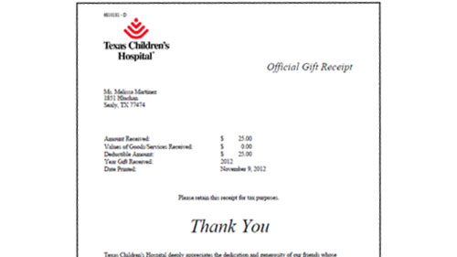 Texas Children's Hospital Donations